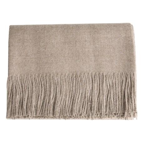 "DownTown Baby Alpaca Throw Blanket - 51x79"""
