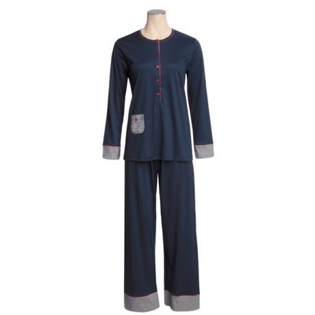 Calida Happy Day Pajamas - Swiss Cotton, Long Sleeve (For Women)