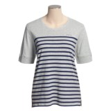 Calida Mix and Match Cotton Shirt - Short Sleeve (For Women)