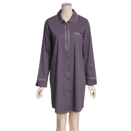 Calida Sunrise Big Shirt - Interlock Cotton, Long Sleeve (For Women)
