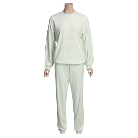 Calida Soft Cotton Terry Cloth Pajamas - Long Sleeve (For Women)