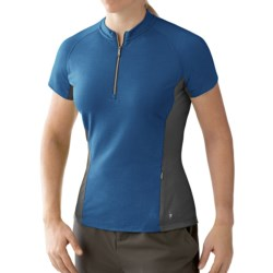 SmartWool Cottonwood Cycling Jersey - Zip Neck, Short Sleeve (For Women)