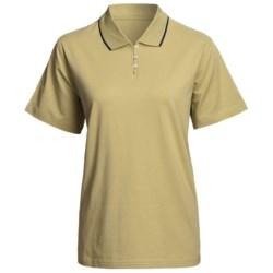 Outer Banks Eco-Fiber Striped Trim Polo Shirt - Short Sleeve (For Women)