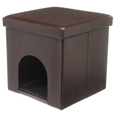 "Beatrice Home Fashions Foldable Pet House Ottoman - 15"""