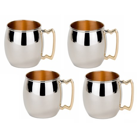 Old Dutch International Inside-Out Copper Moscow Mule Mugs - 16 oz., Set of 4