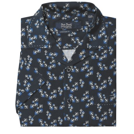 Nat Nast Square Deal Camp Shirt - American Fit, Silk, Short Sleeve (For Men)