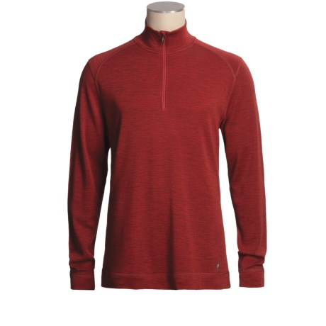 SmartWool NTS Base Layer Top - Zip Neck, Merino Wool, Midweight, Long Sleeve (For Men)