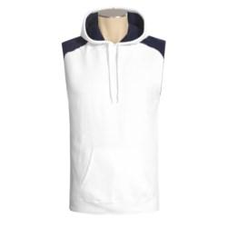 Hanes Beefy-T Hoodie Sweatshirt - No Shrink, Fleece, Sleeveless (For Men)