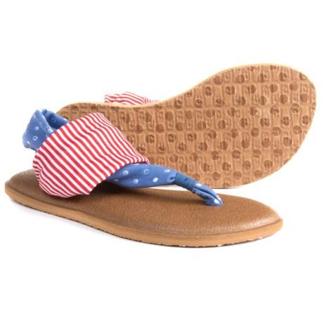 Sanuk Yoga Sling Patriot Sandals (For Girls)