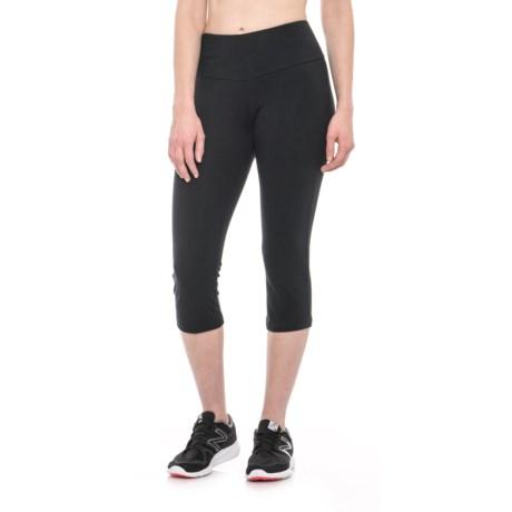 The Girls Solid Capri Leggings (For Women)