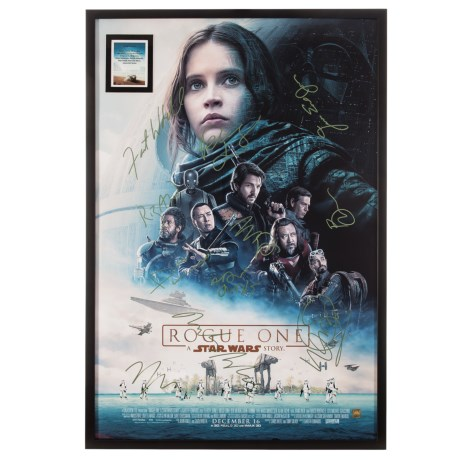 "Luxe West ""Star Wars Rogue One: A Star Wars Story"" Cast Autographed Movie Poster"