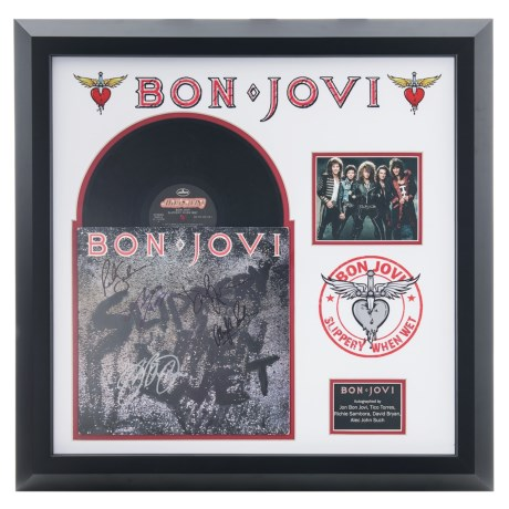 Luxe West Bon Jovi Framed Autographed Album
