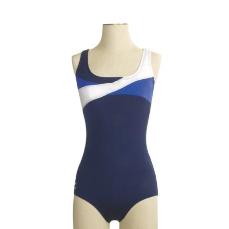 Speedo Endurance Wave Splice Ultraback Swimsuit - 1-Piece (For Women)