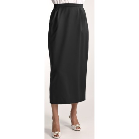 Gabriella Molinari Worsted Wool Skirt - Long (For Petite Women)