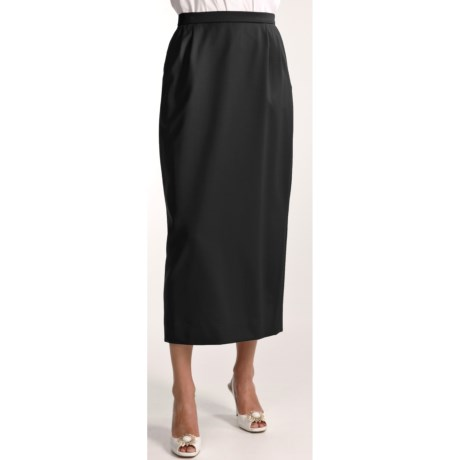 Gabriella Molinari Worsted Wool Skirt - Long (For Women)
