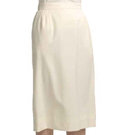 Gabriella Molinari Worsted Wool Skirt (For Plus Size Women)