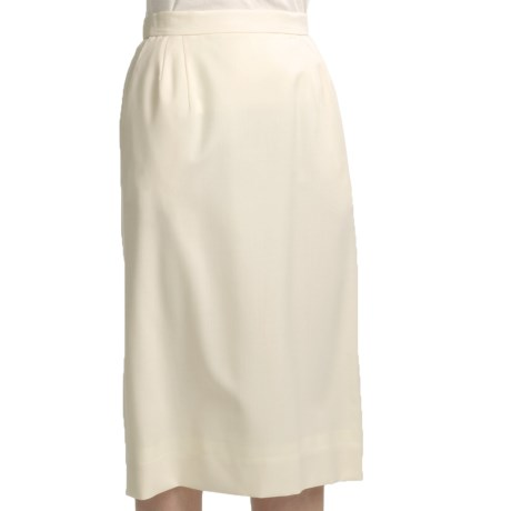 Gabriella Molinari Worsted Wool Skirt (For Petite Women)