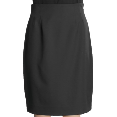 Gabriella Molinari Worsted Wool Pencil Skirt - Short (For Petite Women)