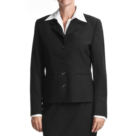 Gabriella Molinari Worsted Wool Blazer (For Plus Size Women)