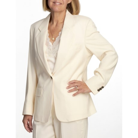 Gabriella Molinari Gabardine Blazer - Worsted Wool (For Women)