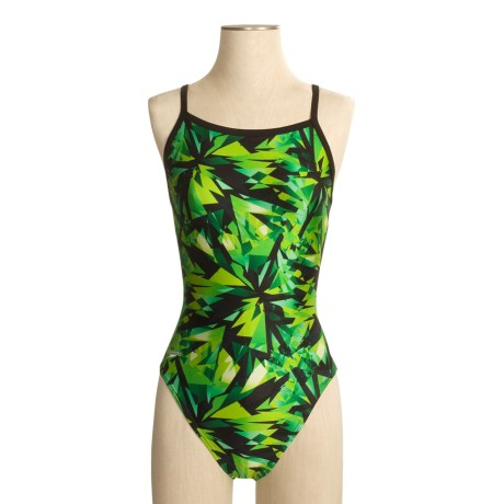 Speedo Shattered Glass Swimsuit - 1-Piece, Flyback (For Women)