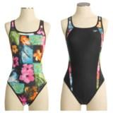 Speedo's Flipturns  FL  reversible Mesh Drop Back Practice Swimsuit (For Women)