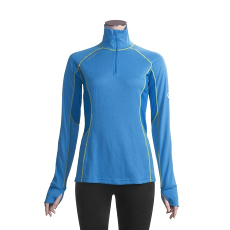 Mammut Warm Quality Base Layer Top - Zip Neck, Long Sleeve (For Women)