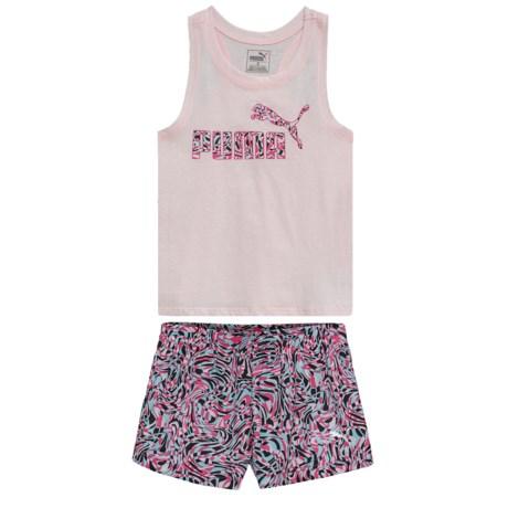 Puma Tank Top and Mesh Shorts Set (For Toddler Girls)