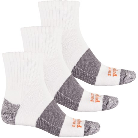 Timberland PRO® U.S. Cotton-Blend Socks - 3-Pack, Quarter Crew (For Men)