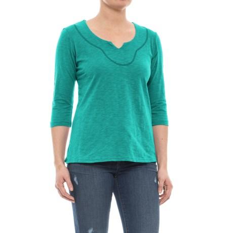 Ojai Lotus Shirt - Elbow Sleeve (For Women)
