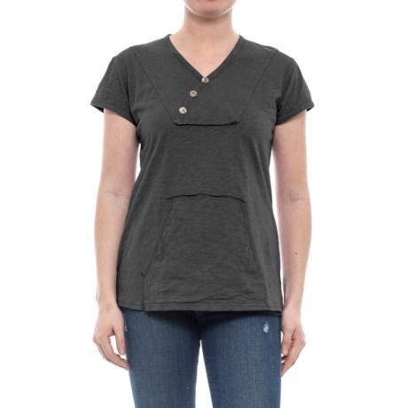 Ojai Crisscross Kangaroo Shirt - Short Sleeve (For Women)