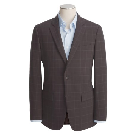 John Varvatos Star USA Waffled Windowpane Sport Coat - Leather Trim (For Men)