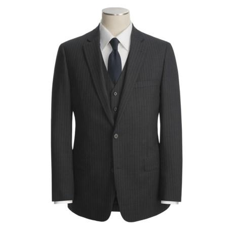 John Varvatos Star USA Tic Weave Stripe Suit - 3-Piece (For Men)