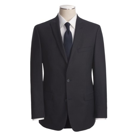 John Varvatos Star USA Beaded Slim Jim Stripe Suit - Peak Lapels, Wool (For Men)