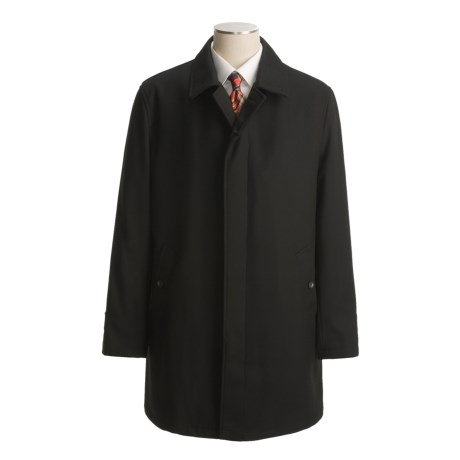 John Varvatos Star USA Wool Twill Overcoat - Button-Out Liner (For Men)