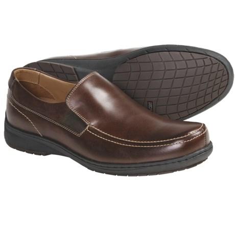 Johnston & Murphy Gibb Moc Shoes - Leather, Slip-Ons (For Men)