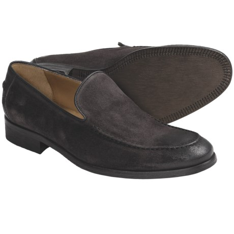 Johnston & Murphy Tilson Shoes - Italian Waxed Suede, Slip-Ons (For Men)