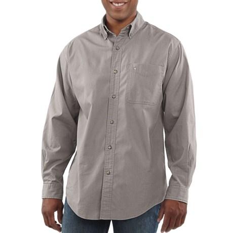 Perfect summer work shirt review of carhartt cotton for Carhartt men s long sleeve lightweight cotton shirt