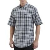 Carhartt Cotton Plaid Chambray Shirt - Short Sleeve (For Men)