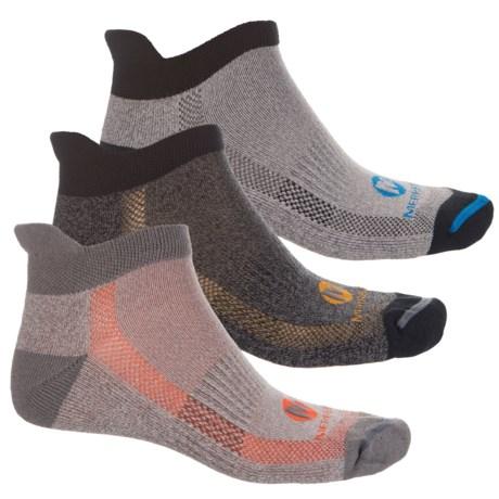 Merrell Repreve® Low Heel Tab Socks - 3-Pack, Ankle (For Men)