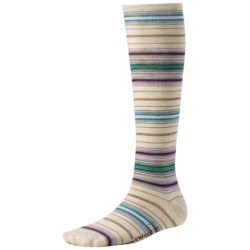 SmartWool Arabica Stripe Socks - Merino Wool, Over-the-Calf (For Women)
