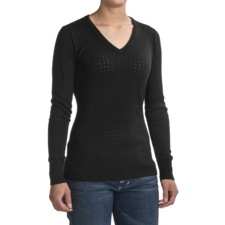 Victorinox 14-Gauge V-Neck Sweater (For Women)