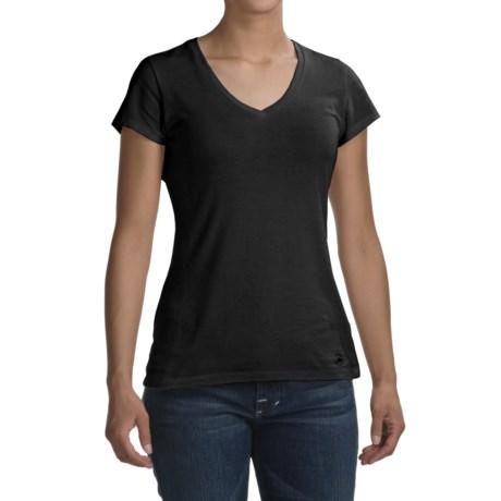 Victorinox Cotton-Modal T-Shirt - V-Neck, Short Sleeve (For Women)