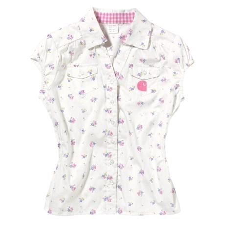 Carhartt Floral Print Shirt - Cotton, Short Sleeve (For Little Girls)