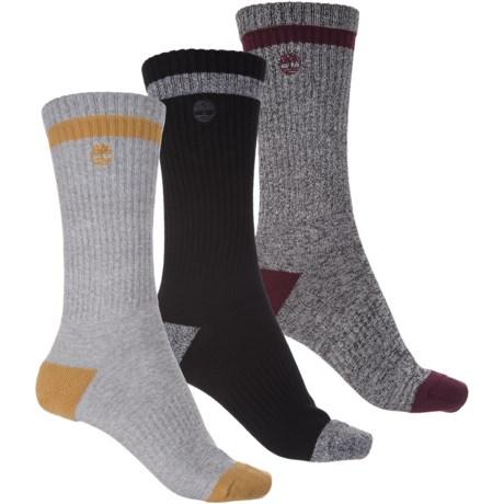 Timberland Marled Socks - 3-Pack, Crew (For Women)