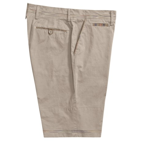 Robert Graham Cyclone Chino Shorts - Flat Front, Contrasting Roll-Up Trim (For Men)