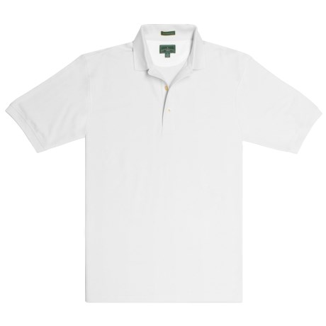 Outer Banks Diamond-Knit Polo Shirt - Two-Ply Egyptian Cotton, Short Sleeve (For Men)