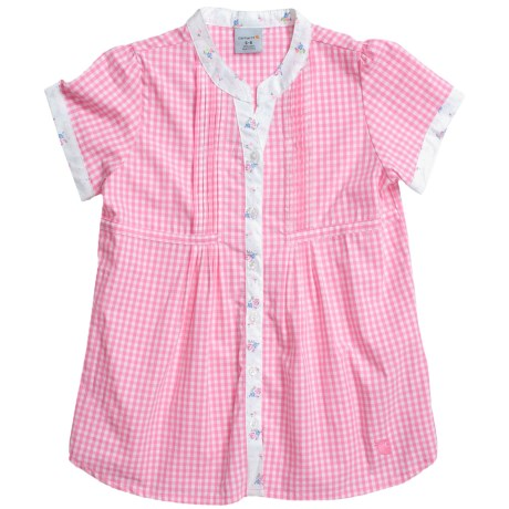 Carhartt Gingham Shirt - Short Sleeve (For Youth Girls)