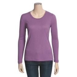 Slub Knit Shirt - Long Sleeve (For Women)