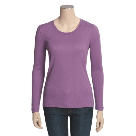 Slub Knit Shirt - Long Sleeve (For Women)